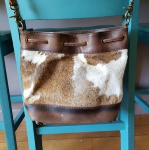Cowhide STS Ranchwear Bucket Bag